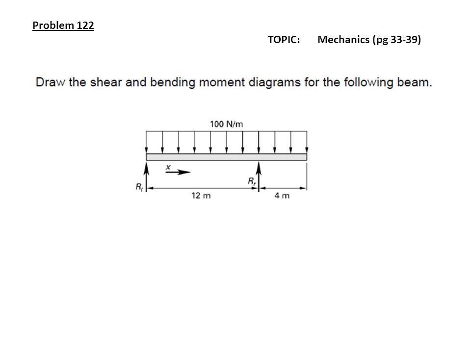 Problem 122 TOPIC: Mechanics (pg 33-39)