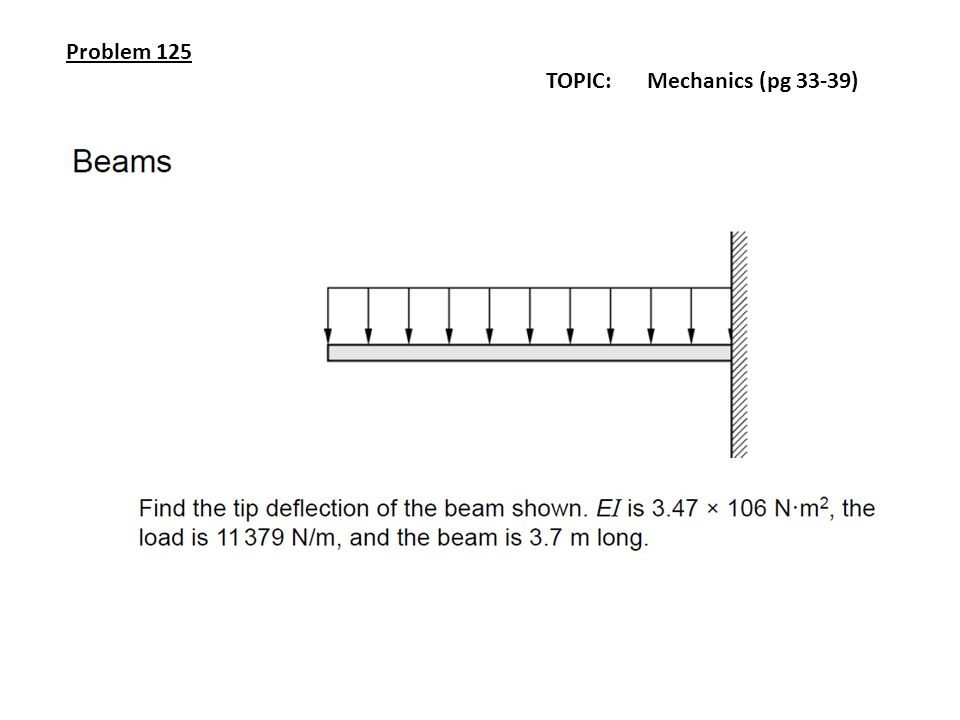 Problem 125 TOPIC: Mechanics (pg 33-39)