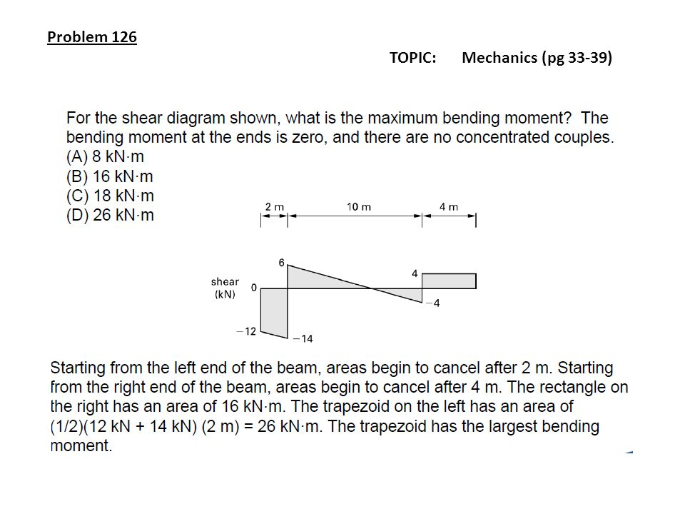 Problem 126 TOPIC: Mechanics (pg 33-39)