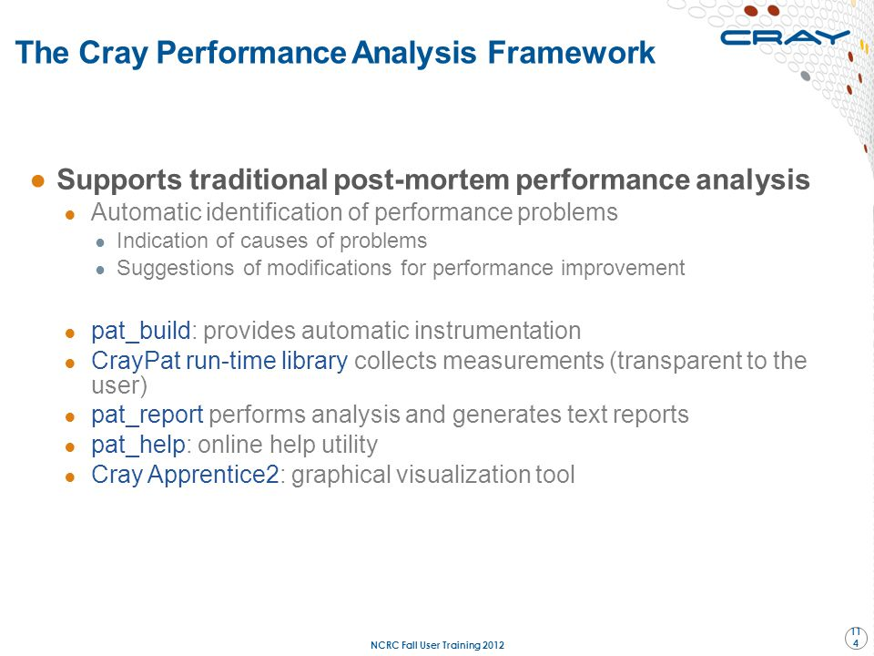 The Cray Performance Analysis Framework