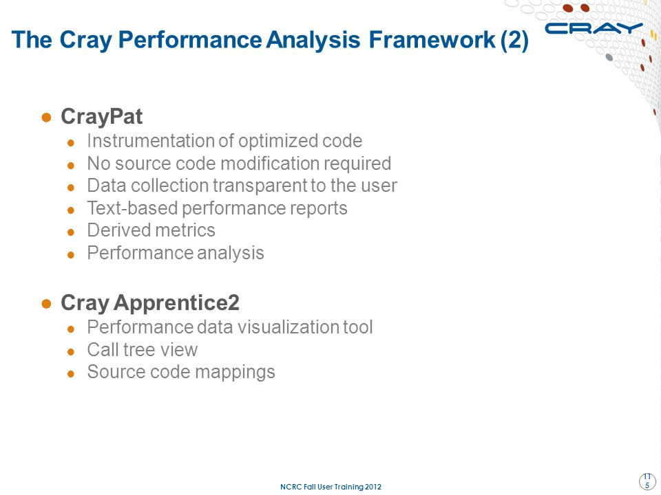 The Cray Performance Analysis Framework (2)