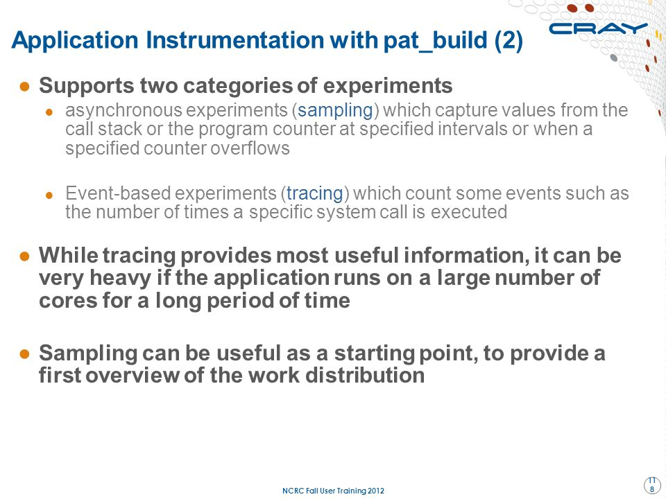 Application Instrumentation with pat_build (2)