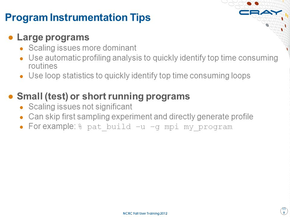Program Instrumentation Tips