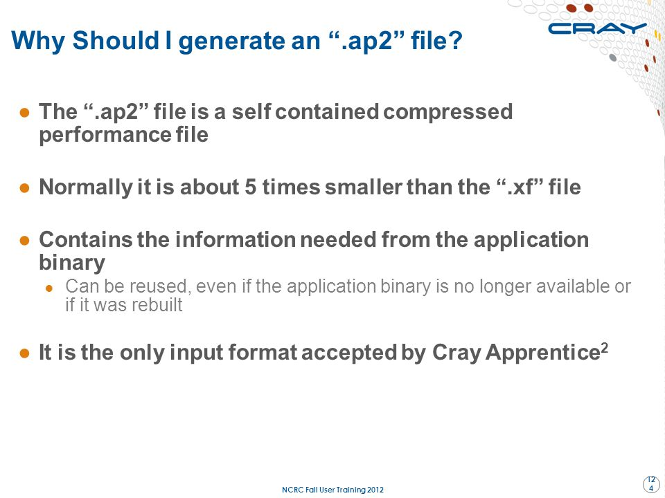 Why Should I generate an .ap2 file