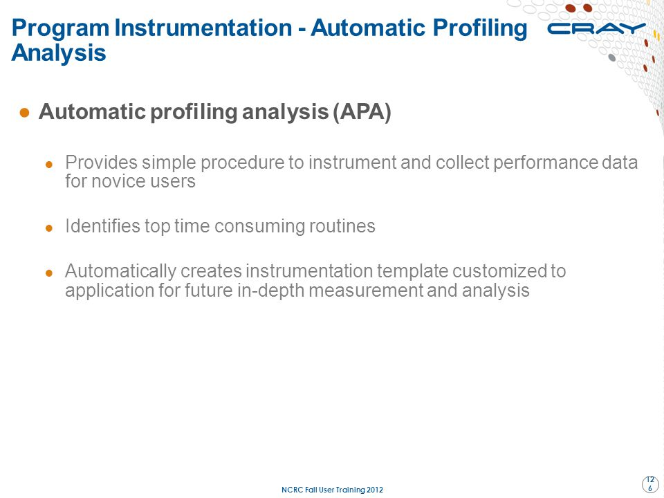 Program Instrumentation - Automatic Profiling Analysis