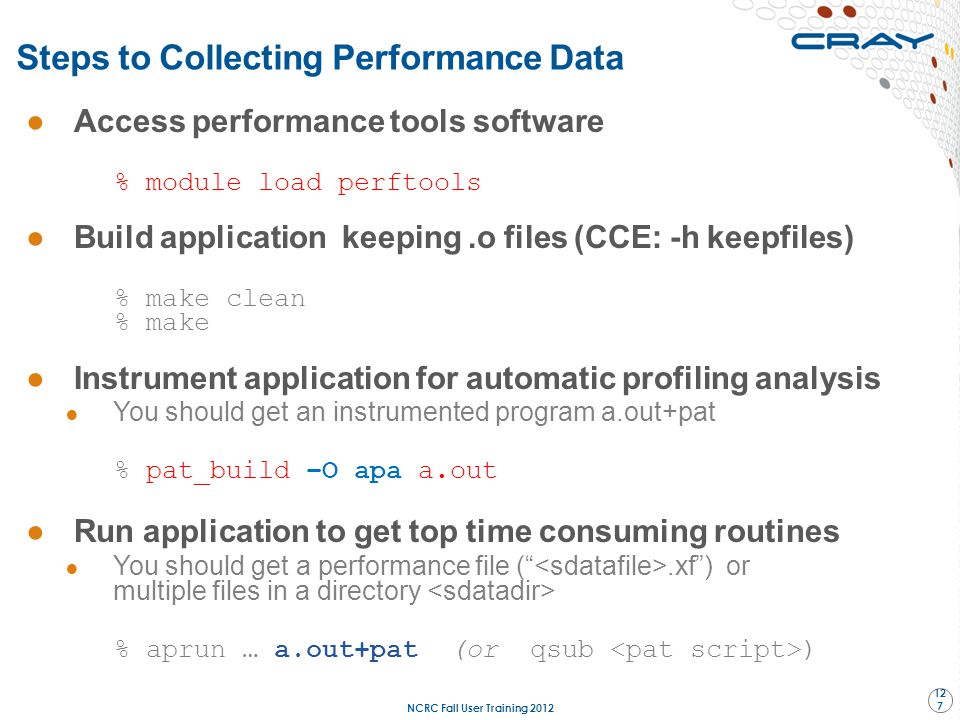 Steps to Collecting Performance Data