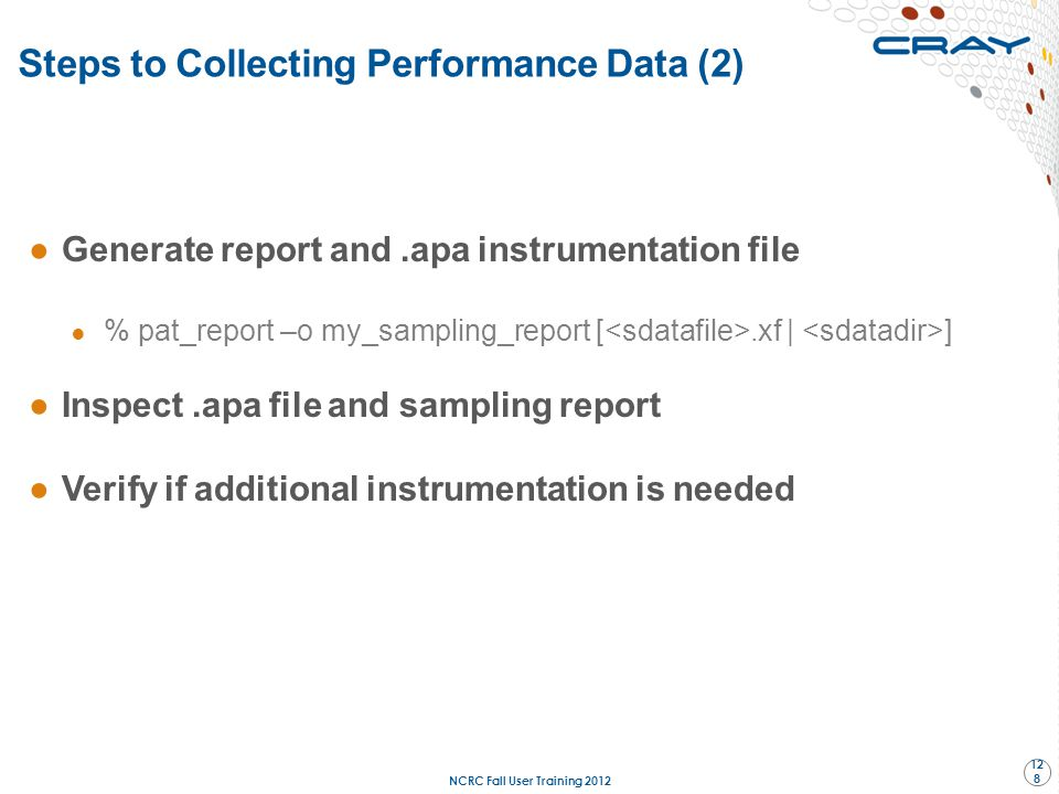 Steps to Collecting Performance Data (2)