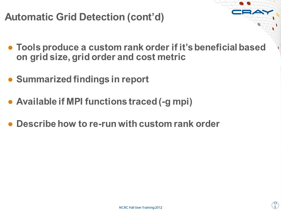 Automatic Grid Detection (cont'd)