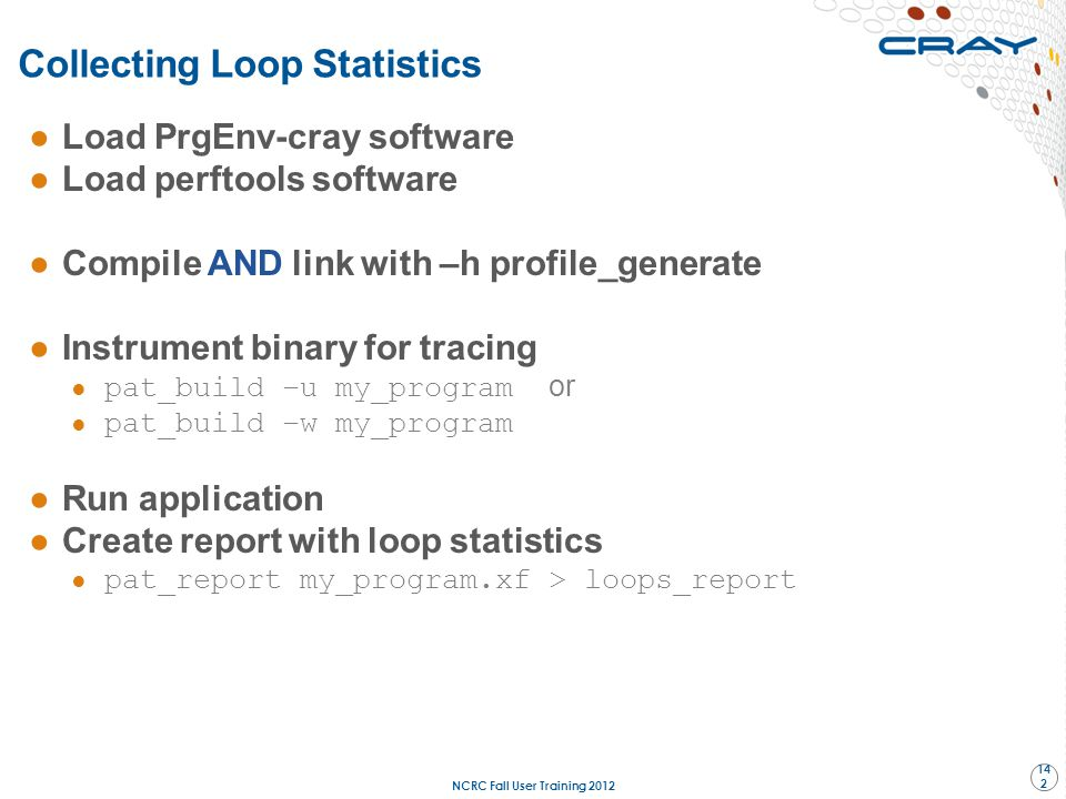 Collecting Loop Statistics