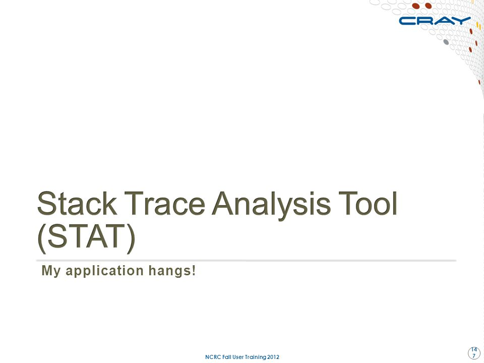 Stack Trace Analysis Tool (STAT)