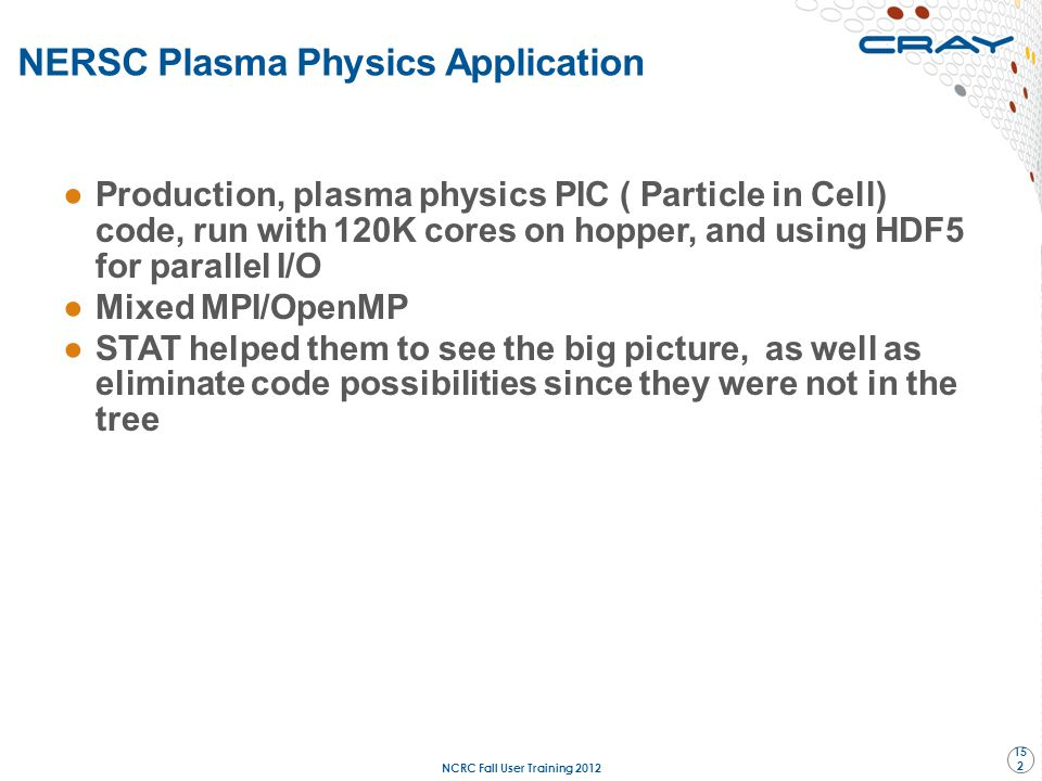 NERSC Plasma Physics Application