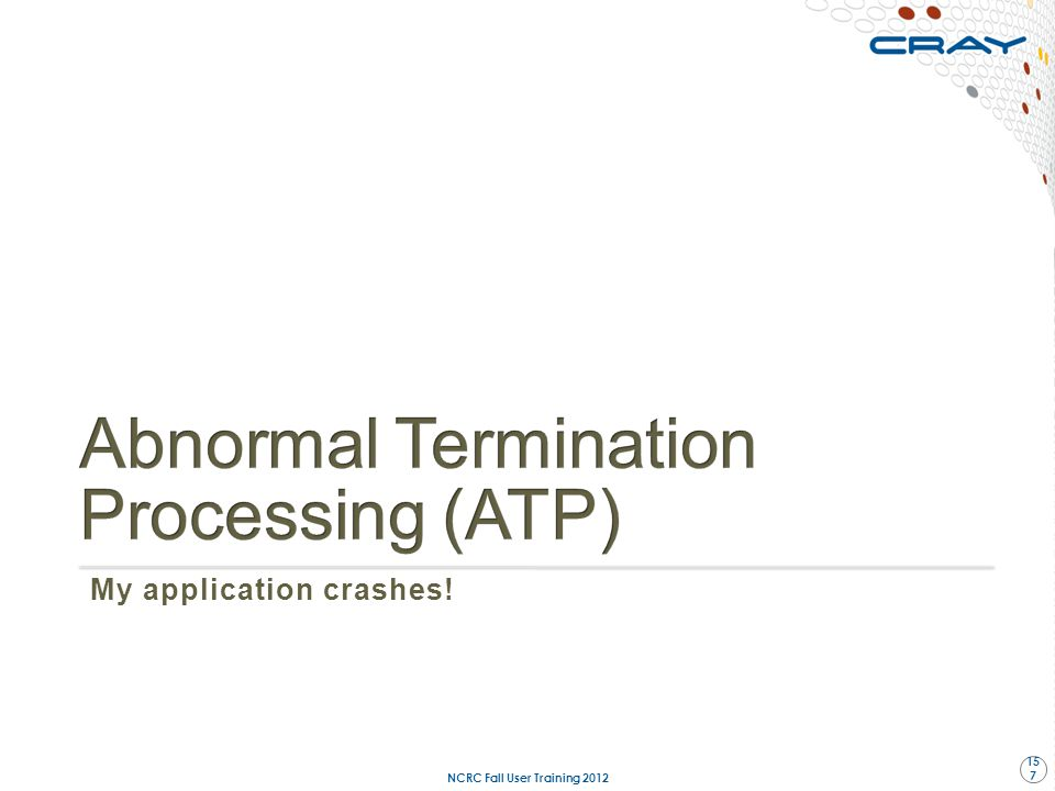 Abnormal Termination Processing (ATP)