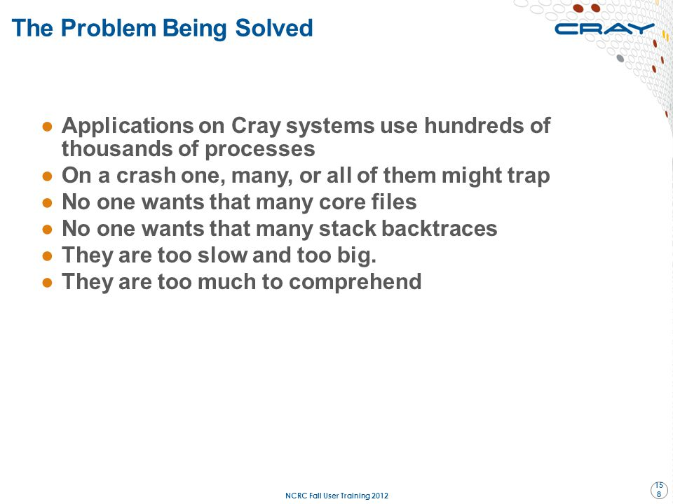 The Problem Being Solved