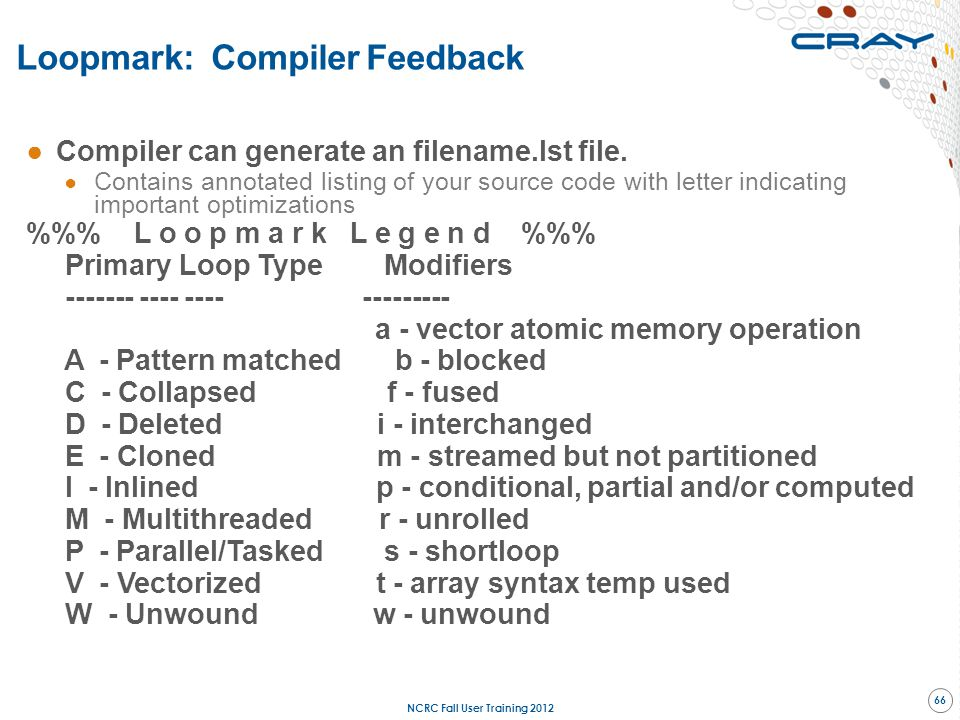 Loopmark: Compiler Feedback