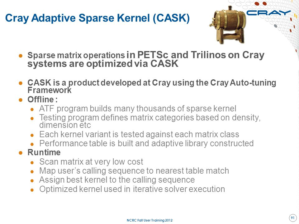 Cray Adaptive Sparse Kernel (CASK)