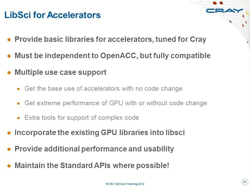 LibSci for Accelerators