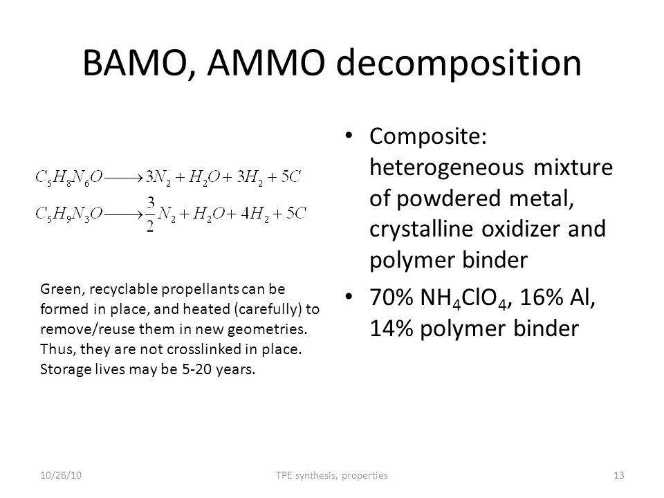 BAMO, AMMO decomposition