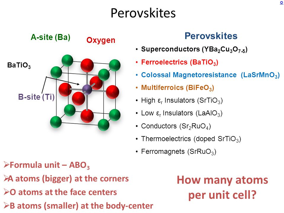 How many atoms per unit cell