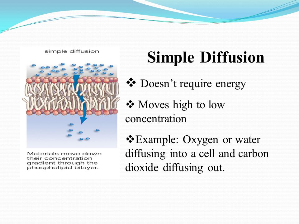 Simple Diffusion Doesn't require energy