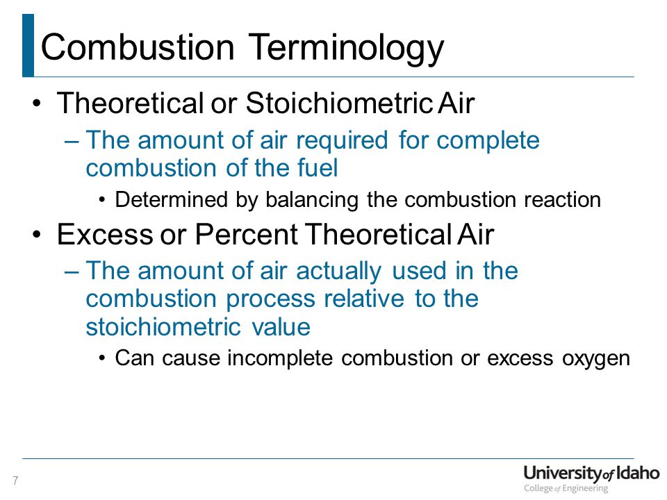 Combustion Terminology