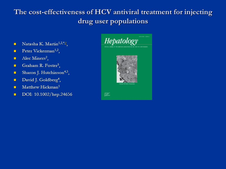 The cost-effectiveness of HCV antiviral treatment for injecting drug user populations