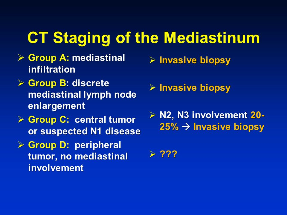 CT Staging of the Mediastinum