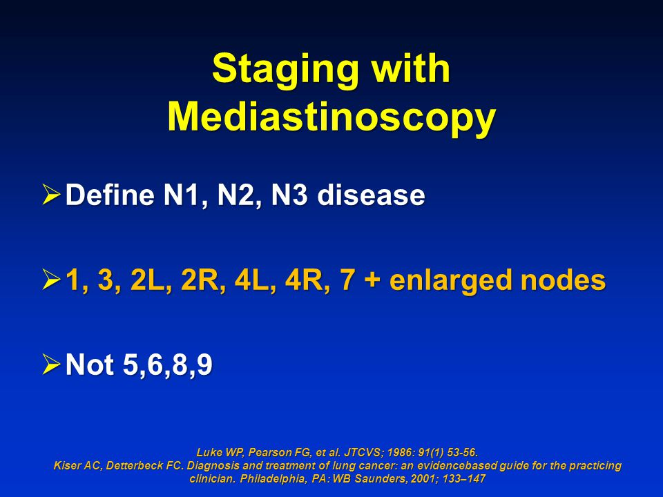 Staging with Mediastinoscopy