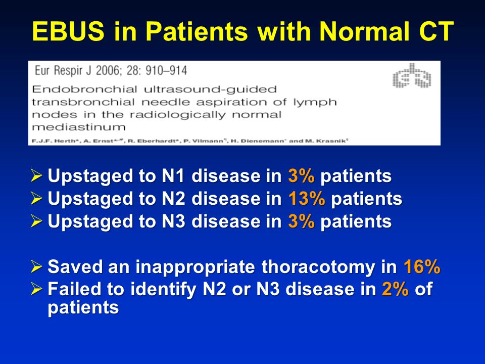 EBUS in Patients with Normal CT