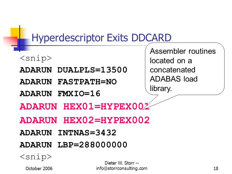 Hyperdescriptor Exits DDCARD