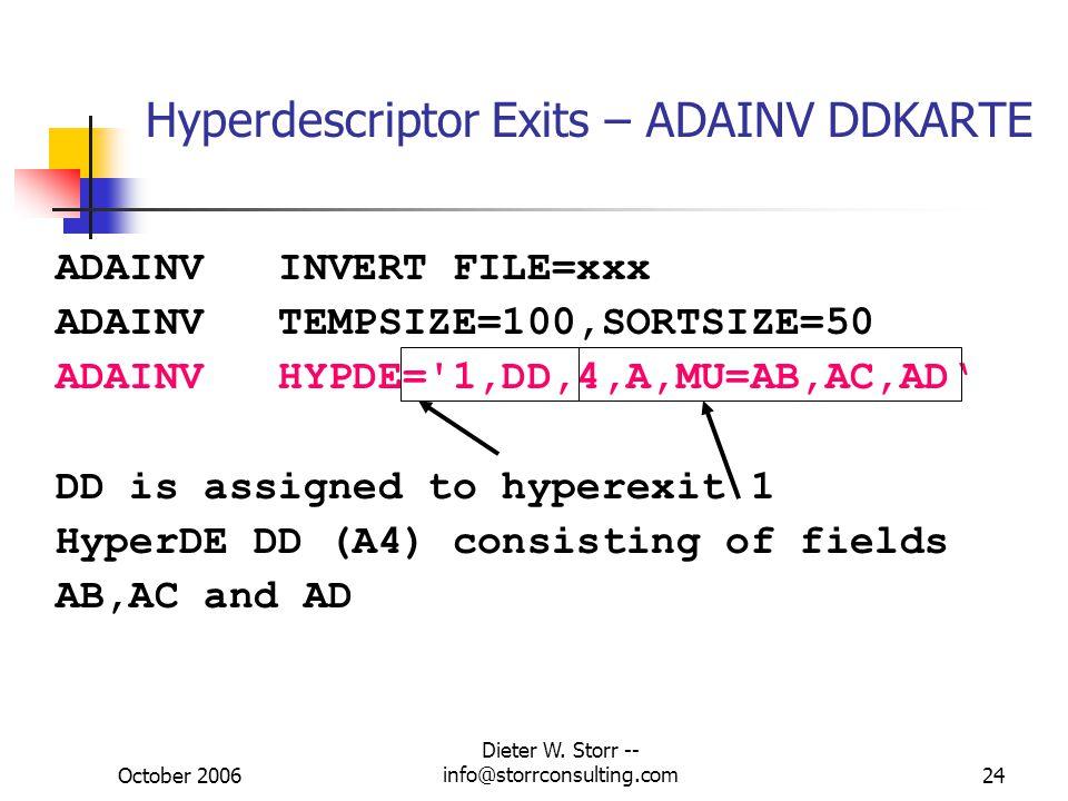 Hyperdescriptor Exits – ADAINV DDKARTE
