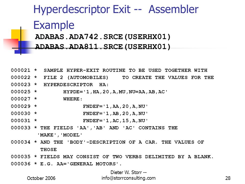 Hyperdescriptor Exit -- Assembler Example