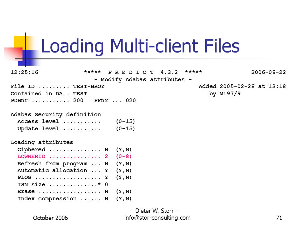 Loading Multi-client Files