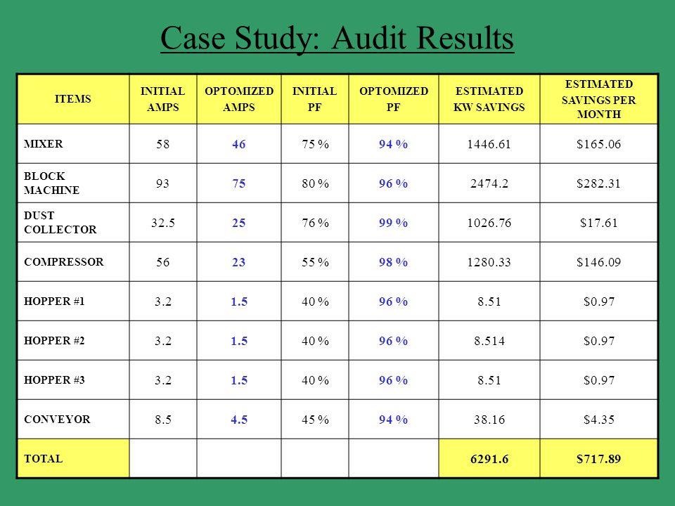 Case Study: Audit Results