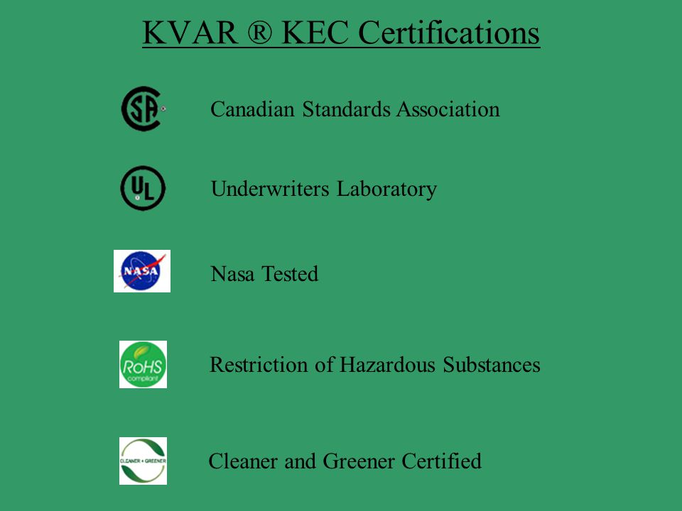 KVAR ® KEC Certifications