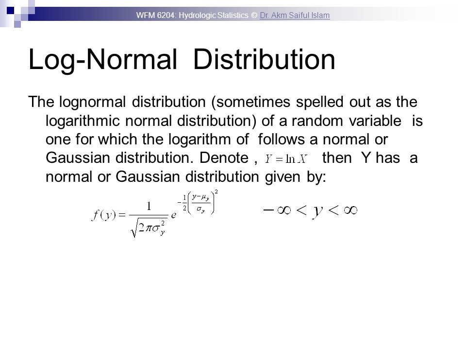Log-Normal Distribution
