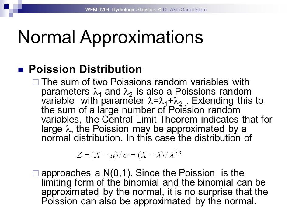Normal Approximations