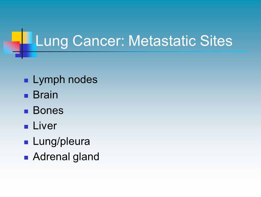 Lung Cancer: Metastatic Sites