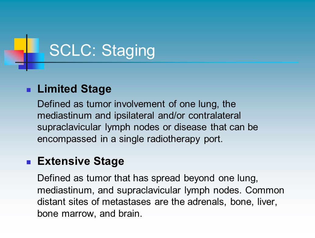SCLC: Staging Limited Stage Extensive Stage