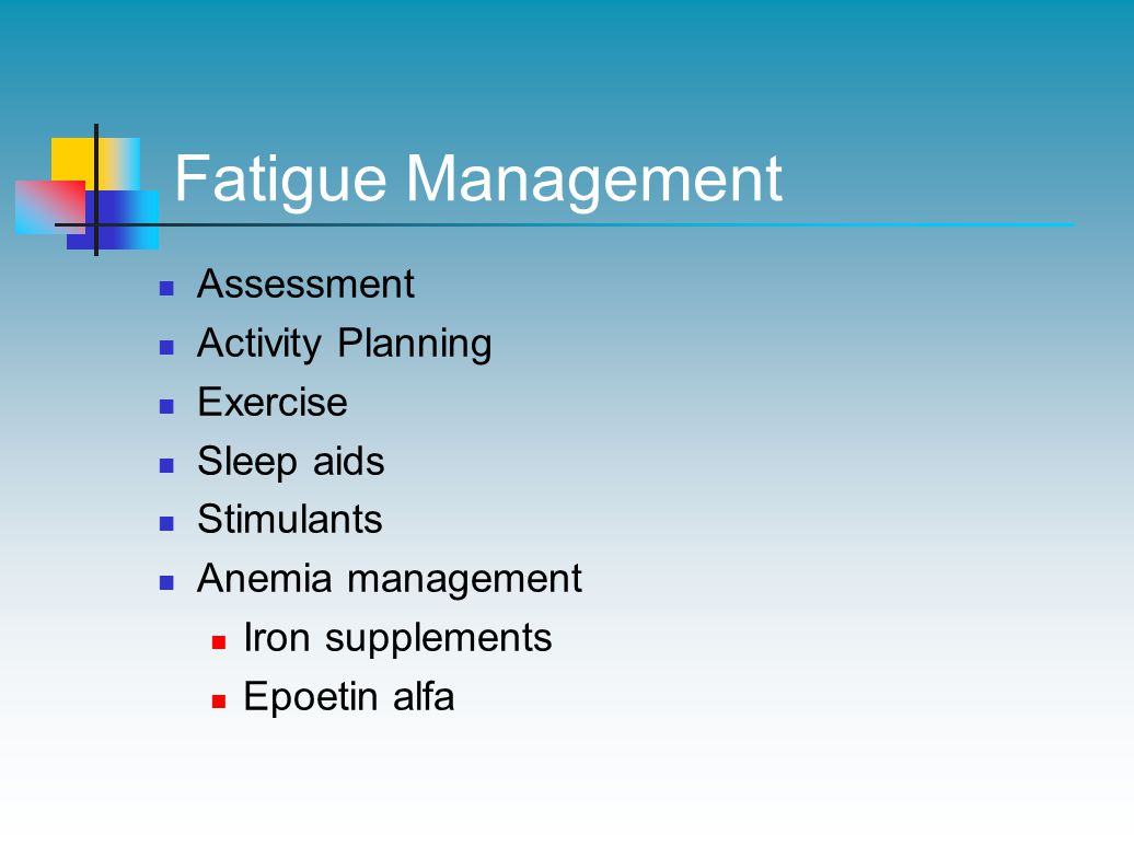 Fatigue Management Assessment Activity Planning Exercise Sleep aids