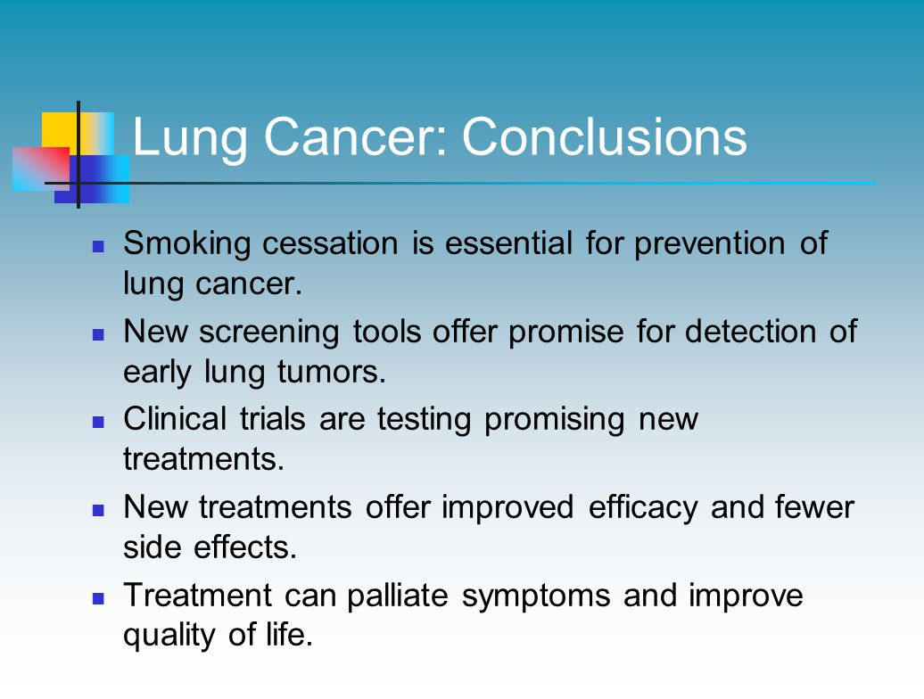 Lung Cancer: Conclusions