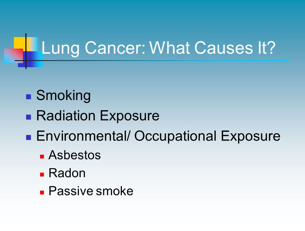 Lung Cancer: What Causes It