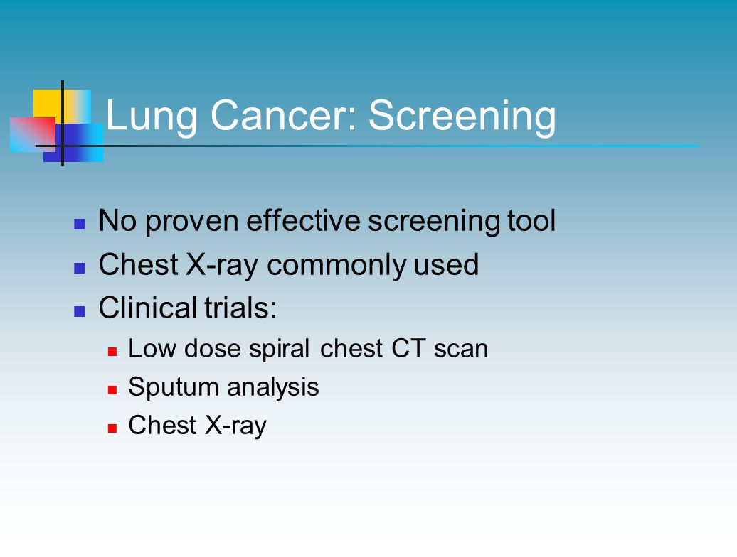 Lung Cancer: Screening