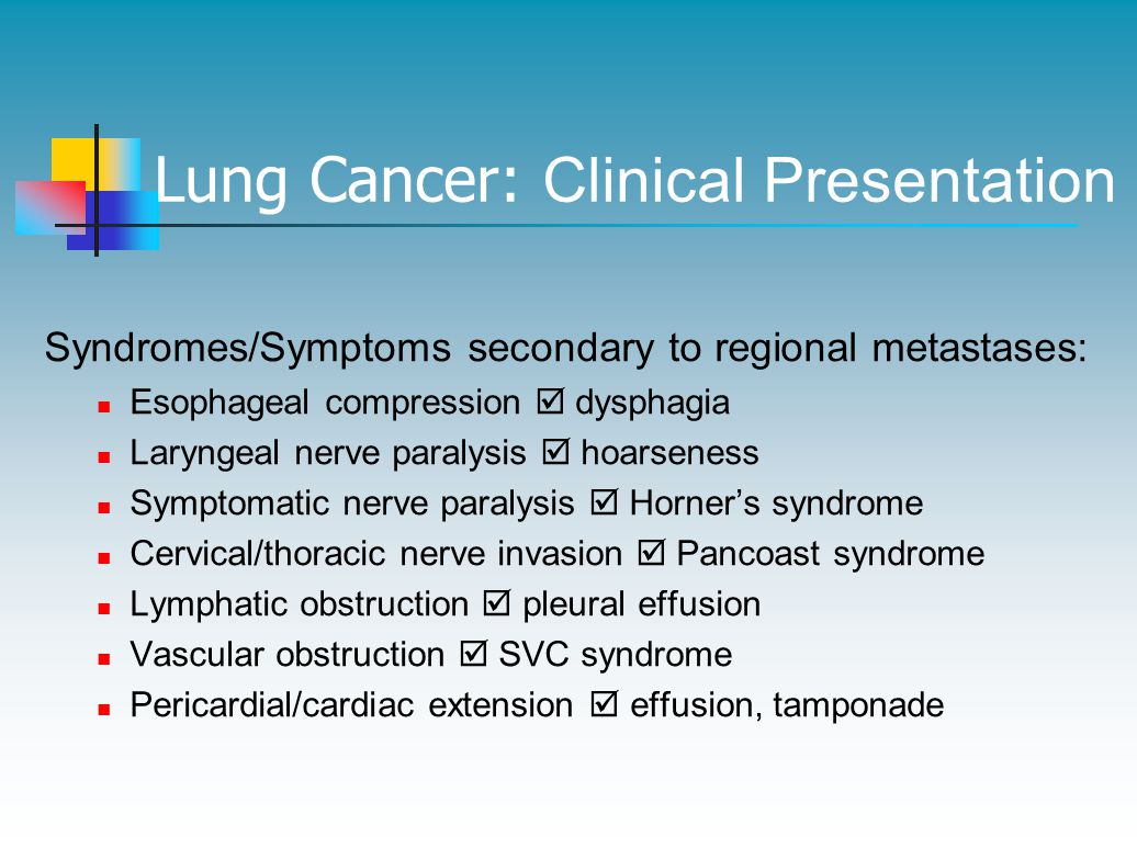 Lung Cancer: Clinical Presentation