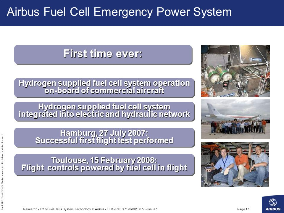 Airbus Fuel Cell Emergency Power System