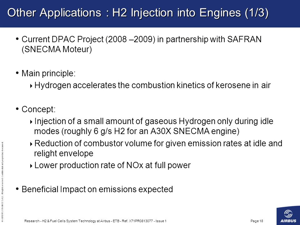 Other Applications : H2 Injection into Engines (1/3)