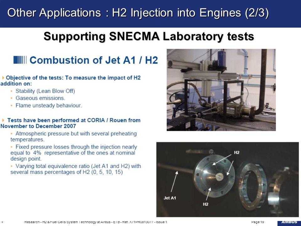 Supporting SNECMA Laboratory tests