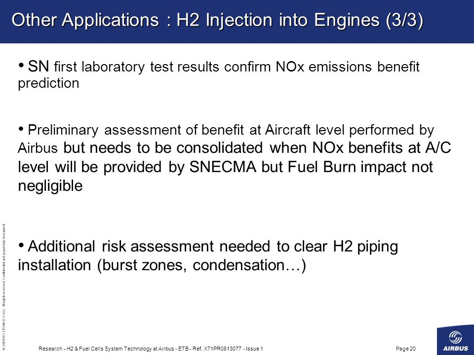 Other Applications : H2 Injection into Engines (3/3)