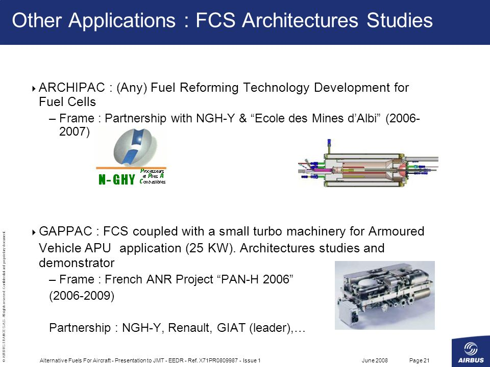 Other Applications : FCS Architectures Studies