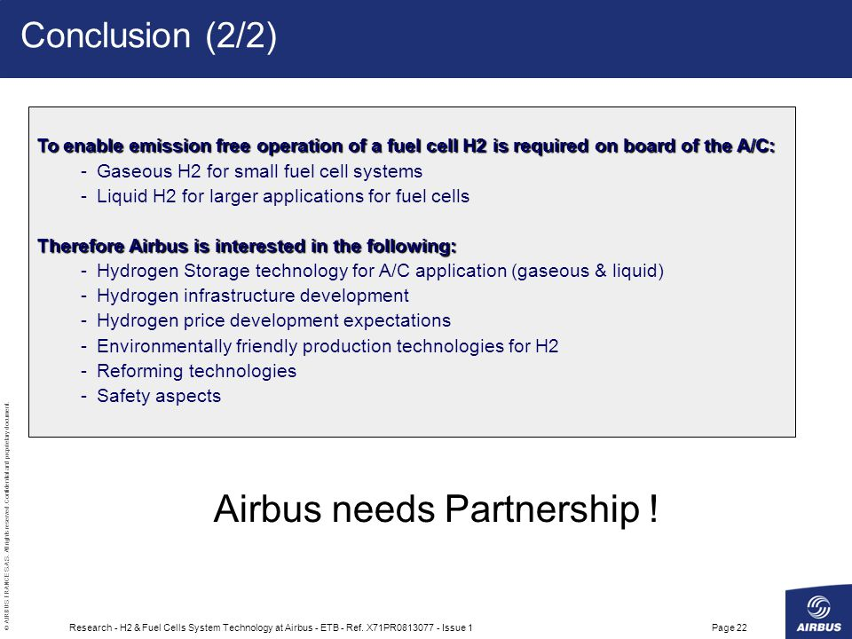 Airbus needs Partnership !