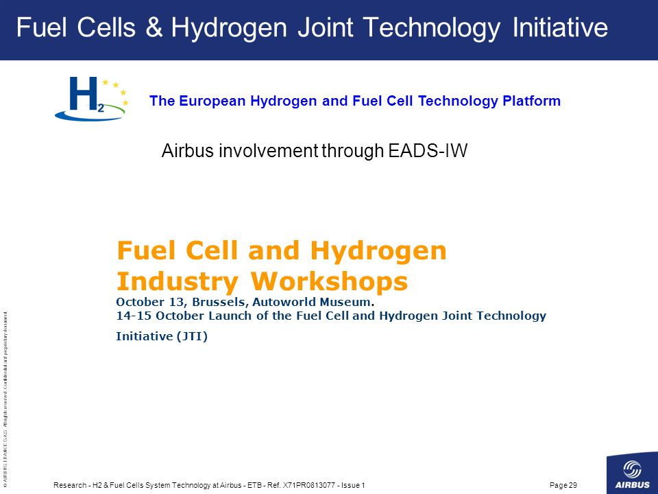 Fuel Cells & Hydrogen Joint Technology Initiative